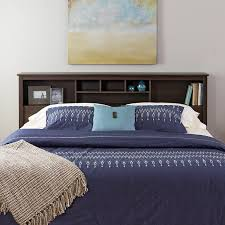Image of: King Size Headboards Shelves