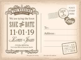 Wedding Invitations Postcard Design Graphic Vector Free Vector In
