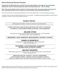 Personal Branding Statement Resume Examples Best Of Branding Statement Resume Examples Examples Of Resumes 2