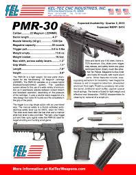 Kel Tec Pmr 30 Tactical Light More Kel Tec Pmr 30 Information The Shooters Log