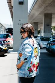 gucci jean jacket. diy embroidered patch denim jacket gucci jean