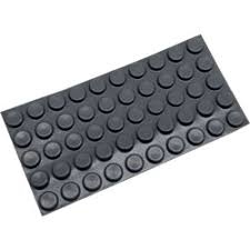 self adhesive rubber door silencer for wood metal frame case of 100