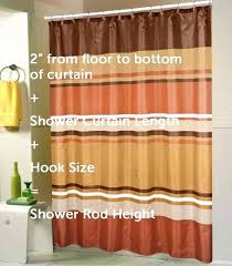 standard length of shower curtain standard shower curtain liner length size for tub what is the