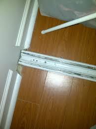 72 sliding mirror door bottom track source closet door hardware floor guide guides metal bi fold closet door