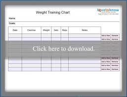 Blank Weight Chart Blank Exercise Charts Lovetoknow