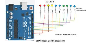 Arduino Led Light Projects Led Chaser Arduino Project Hub