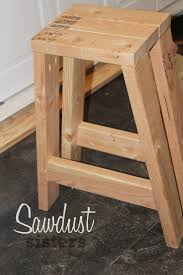 build barstool using only 2x4s sawdust sisters pipe bar stool diy leather stools modern swivel with