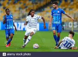 KYIV, UKRAINE - SEPTEMBER 29: Nurio Fortuna of AA Gent, Gerson Rodrigues of  Dynamo Kiev, Tim Kleindienst of AA Gent, Mykola Shaparenko of Dynamo Kiev  Stock Photo - Alamy