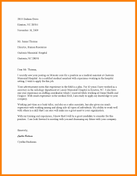 Cover Letter For Resume Medical Assistant Cover Letters Examples for Medical assistant with No Experience 20