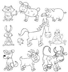 Farm Animal Coloring Sheets Easy Animal Coloring Pages Farm Animals