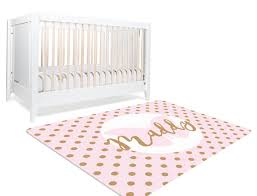 pink and gold rug astonishing name decor for nursery personalized rugs interior design 5