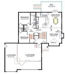 Garage  Car garage and To the wall on PinterestBi Level House Plan   a Bonus Room by E Designs