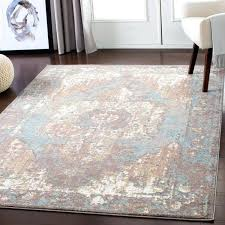vintage area rugs slate blue distressed rug 8x10