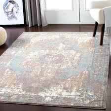 vintage area rugs slate blue distressed rug 8x10