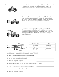 Balanced And Unbalanced Forces Worksheet Worksheets for all ...