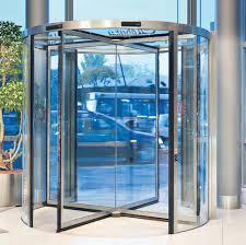 entry door revolving glass security porte girevoli kone