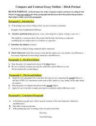 Outline Of Compare And Contrast Essay Do Outline Comparison Contrast Essay