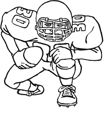 Coloring Pages Football Football Player Coloring Page Free Printable Football Coloring Pages