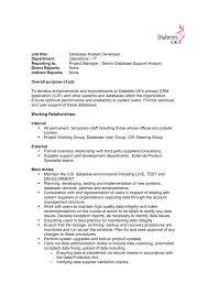 Data Analyst Job Duties Job Description Database Analyst Developer