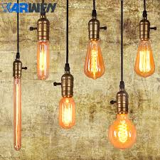 cheap vintage lighting. karwen edison bulb e27 220v incandescent lamp 40w vintage pendant light retro lighting ceiling lampadas cheap