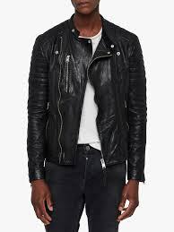 allsaints sarls biker jacket black long sleeve plain 15408708 tmjklah