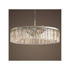 rh rhys clear glass prism round crystal chandelier 23 6 31 4