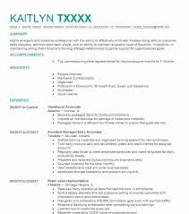 Warehouse Resume Amazing Best Warehouse Associate Resume Example LiveCareer