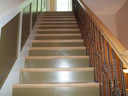 interior custom stair painting of the risers stringers and wall trim in catskill ny