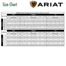 Ariat Heritage Field Boot Size Chart Ariat Boot Fit Guide Fitness And Workout