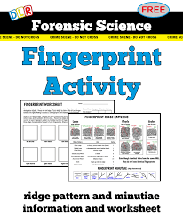 forensic science #fingerprint activity #free download | Forensic ...