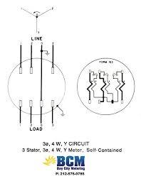 wiring diagrams bay city metering nyc 3 stator 4 wire y socket