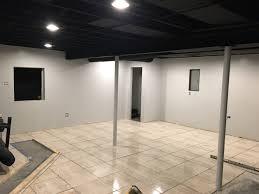 Exposed Black Dryfall Basement Ceiling Finishing Basement - Exposed basement ceiling