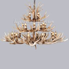 24 antler chandelier 12 8 4 three tiers cast cascade candle style ceiling lights rustic lighting 47