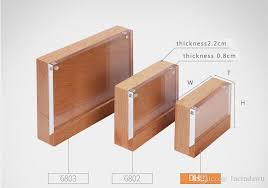 2019 a5 a6 magnetic holder board wood block acrylic frame name card display stand advertising wooden table desk sign label holder from lucindawu