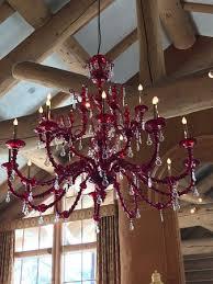 cinnabar out of place cinnabar fish tacos a beautiful red blown glass chandelier