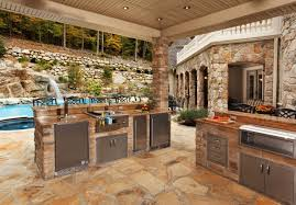rustic kitchens with islands. Pool Side Rustic Kitchen Island Kitchens With Islands I