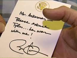 President Obama Pens Tyler Sullivan Absence Note | People.com