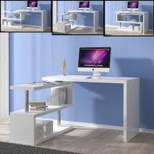 high gloss office furniture. Miami Rotating Computer Desk In White High Gloss Office Furniture