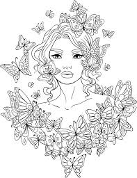 beautiful girl coloring pages.  Girl Portrait Coloring Pages Best Beautiful Women For Adults  Images On G1635 And Girl P