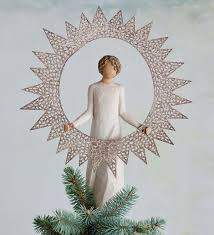 Celestial Lights Christmas Tree Topper Starlight Willow Tree Angel Tree Topper Figurine Wind And