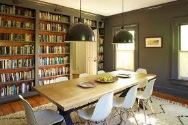 industrial style dining room lighting. industrial style lighting makes a grand visual statement in the library dining room comb