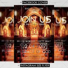 Join Us For Sunday Service – Premium A5 Flyer Template Easter Flyer ...