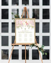 Personalized Seating Chart First Communion Seating Chart Girl First Communion