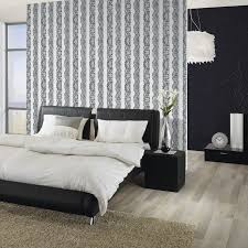 Wallpaper Living Room Feature Wall Catherine Lansfield Lace Effect Wallpaper 3 Colours Bedroom