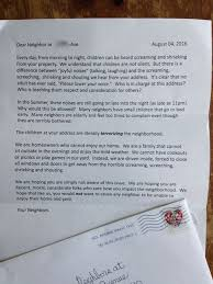 complaint letter to neighbor moms everywhere are applauding womans perfect response to
