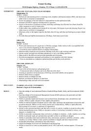 Driller Resume Samples Velvet Jobs