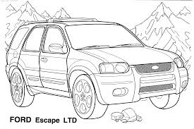 Small Picture Coloring Page Of A Car anfukco