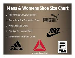 Puma To Nike Size Chart Shop Your Favorite Shoes With The Help Of Shoe Size