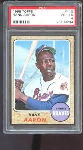 1968 Topps #110 Hank Aaron Atlanta ...