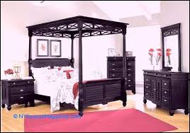 U Design Plantation Cove Black Canopy Bedroom Collection Value City American  Signature Sets